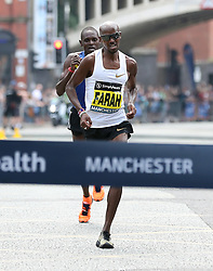 Great Britain's Mo Farah wins the Simplyhealth Great Manchester Elite Men 10k run through Manchester.