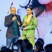 NLD/Amsterdam/20200109 - Fashionshow Famke Louise, Danny Froger ne partner Ann-Dominique Wilten
