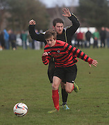 Fintry Athletic (red and black) last 16 Scottish Cup clash with Medda Sports - Dundee Sunday Amateur Football<br /> <br />  - &copy; David Young - www.davidyoungphoto.co.uk - email: davidyoungphoto@gmail.com