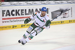 14.12.2014, Saturn Arena, Nürnberg, GER, DEL, Ice Tigers Nuernberg vs Augsburg Panthers, 27. Runde, im Bild Louie Caporusso (weiss-Augsburg) feiert seinen 1:1 Ausgleichstreffer // during Germans DEL Icehockey League 27th round match between Ice Tigers Nuernberg and Augsburg Panthers at the Saturn Arena in Nürnberg, Germany on 2014/12/14. EXPA Pictures © 2014, PhotoCredit: EXPA/ Eibner-Pressefoto/ Arth<br /> <br /> *****ATTENTION - OUT of GER*****