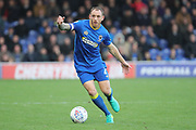 AFC Wimbledon defender Barry Fuller (2) dribbling during the EFL Sky Bet League 1 match between AFC Wimbledon and Plymouth Argyle at the Cherry Red Records Stadium, Kingston, England on 21 October 2017. Photo by Matthew Redman.