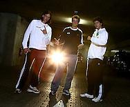 BASE Gang L-R.Tennis Spieler  Dominik Schulz,Kevin Krawietz und Peter Heller von der FORMAXX TennisBase...Photo: Juergen Hasenkopf..