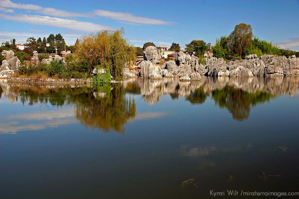 Asia, China, Yunnan, Kunming.  The Stone Forest natural wonder.