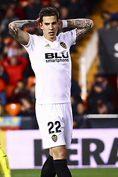 January 26, 2019 - Valencia, Spain - Santi Mina of Valencia CF  during  spanish La Liga match between Valencia CF vs Villarreal CF at Mestalla Stadium on Jaunary  26, 2019. (Credit Image: © Jose Miguel Fernandez/NurPhoto via ZUMA Press)