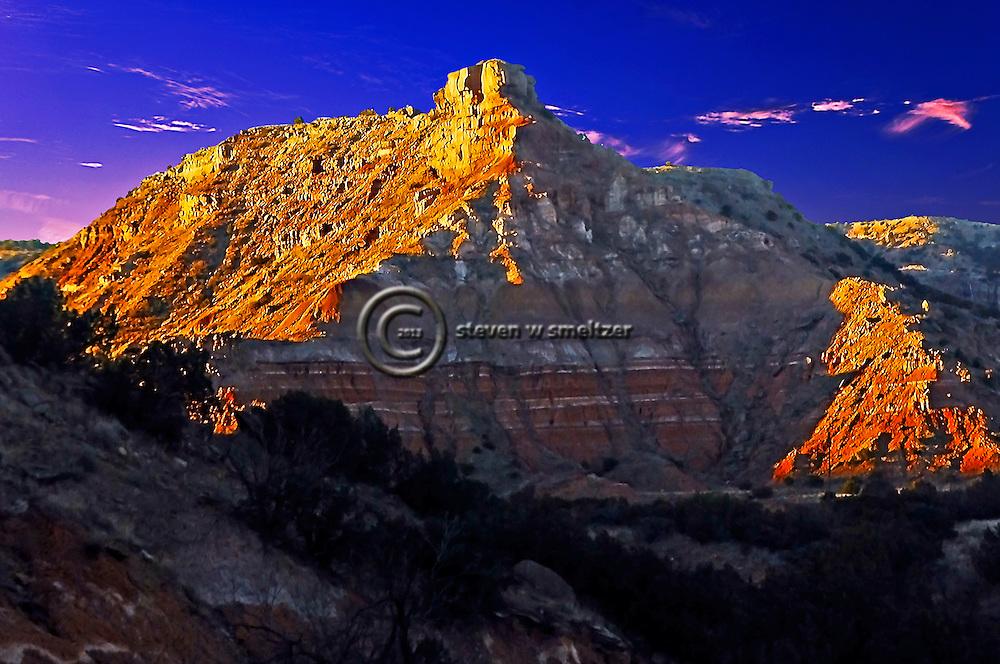 Palo Duro Canyon North Rim at Sunset
