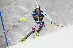 Daniel Yule (SUI) competes during 1st Run of 10th Men's Slalom race of FIS Alpine Ski World Cup 55th Vitranc Cup 2016, on March 6, 2016 in Podkoren, Kranjska Gora, Slovenia. Photo by Vid Ponikvar / Sportida