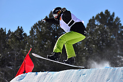 Snowboarder Cross Action, TUDHOPE Ben, AUS at the 2016 IPC Snowboard Europa Cup Finals and World Cup