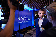 Warsaw, Poland - 2018 June 12: Leszek Ojrzynski speaks while TV interview during Novotel Football Night at Novotel Hotel on June 12, 2018 in Warsaw, Poland.<br /> <br /> Adam Nurkiewicz declares that he has no rights to the image of people at the photographs of his authorship.<br /> <br /> Picture also available in RAW (NEF) or TIFF format on special request.<br /> <br /> Any editorial, commercial or promotional use requires written permission from the author of image.<br /> <br /> Image can be used in the press when the method of use and the signature does not hurt people on the picture.<br /> <br /> Mandatory credit:<br /> Photo by © Adam Nurkiewicz / Mediasport