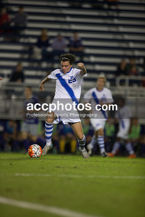 2015 October 13: Ciaran McKenna #23 of the Duke Blue Devils during a game against the Holy Cross Crusaders in Durham, NC. Holy Cross won 1-0.