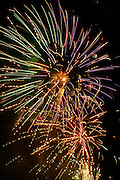 July 4 Independence Day celebrations in West Reading, Pennsylvania. Fireworks
