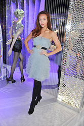 OLIVIA GRANT at a reception to celebrate the launch of 'A Crystal Christmas'  - inspired by Swarovski and held at Harrods, Knightsbridge, London on 8th November 2011.  Following the reception a private dinner was held at One Hyde Park, Knightsbridge.