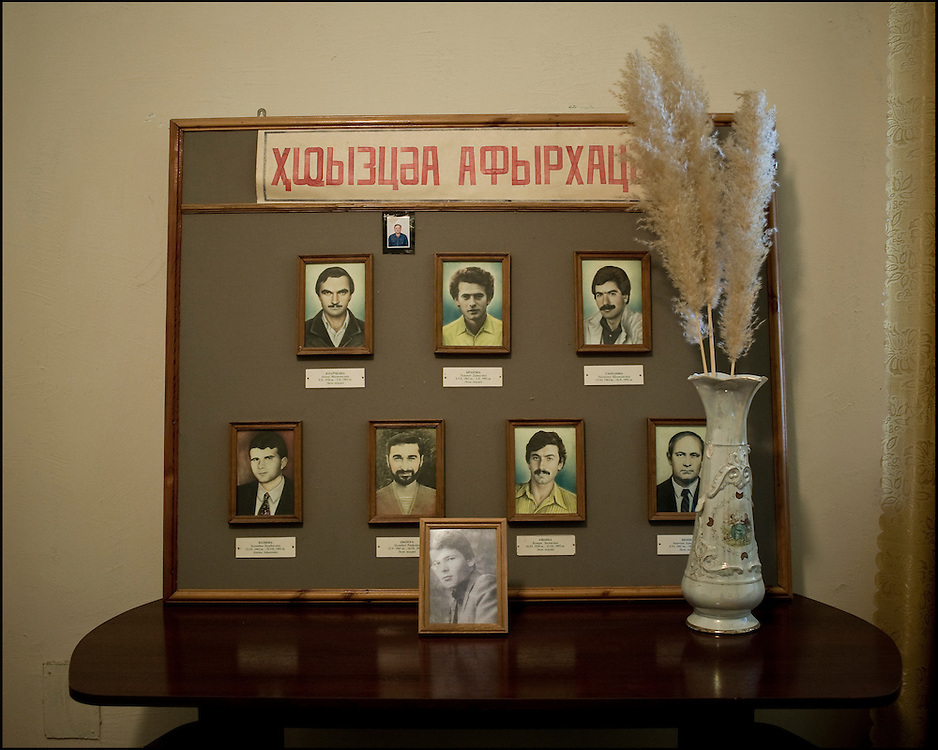 At the offices of the public television channel of Abkhazia there is a memorial devoted to people that died during  the war of 1992-1993.