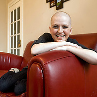 Race For Life. Charlene Jones aged 30 of Quarriers Village is battling Lung and Bowel Cancer. She is determined to take part in this year's Race For Life. Charlene is pictured at home . Picture Christian Cooksey.