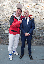 Repro Free: 11/09/2014<br /> Andy Quirke a.k.a. Damo from Damo and Ivor is pictured with RTE Channell controller Bill Malone at the RT&Eacute; 2 New Season Launch in Gateway House, Capel Street. Picture Andres Poveda<br />  pictured at the RT&Eacute; Two New Season Launch in Gateway House, Capel Street. Picture Andres Poveda