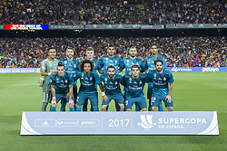 August 13, 2017 - Barcelona, Spain - Real Madrid initial team during the match between FC Barcelona - Real Madrid, for the first leg of the Spanish Supercup, held at Camp Nou Stadium on 13th August 2017 in Barcelona, Spain. (Credit: Urbanandsport / NurPhoto) (Credit Image: © Urbanandsport/NurPhoto via ZUMA Press)