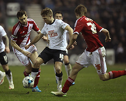 Derby County's Jamie Ward takes on Middlesbrough's Tomas Kalas - Photo mandatory by-line: Robbie Stephenson/JMP - Mobile: 07966 386802 - 17/03/2015 - SPORT - Football - Derby - iPro Stadium - Derby County v Middlesbrough - Sky Bet Championship