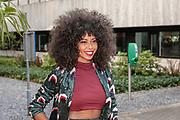 2018, Augustus 28. Mediapark, Hilversum. Persviewing NPO Seizoen 2018. Op de foto: Fenna Ramos