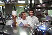 The kitchen of the restaurant Daniel in New York,..Chef Daniel Bouud..Photograph by Owen Franken ..