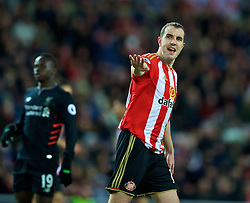 SUNDERLAND, ENGLAND - Monday, January 2, 2017: Sunderland's John O'Shea in action against Liverpool during the FA Premier League match at the Stadium of Light. (Pic by David Rawcliffe/Propaganda)