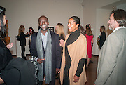 DAVID ADJAYE; ASHLEY SHAW-SCOTT; MARC NEWSON, Gala Opening of RA Now. Royal Academy of Arts,  8 October 2012.