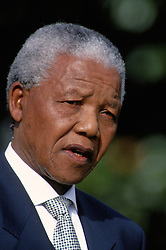 April 6, 2014 - Washington, District of Columbia, United States of America - Washington, DC. 10-4-1994.President Nelson Mandela of South Africa delivers his speech during arrival ceremomies On the South Lawn at the White House..Nelson Rolihlahla Mandela ( 18 July 1918 Ð 5 December 2013) was a South African anti-apartheid revolutionary, politician, and philanthropist who served as President of South Africa from 1994 to 1999. He was South Africa's first black chief executive, and the first elected in a fully representative democratic election. His government focused on dismantling the legacy of apartheid through tackling institutionalised racism, poverty and inequality, and fostering racial reconciliation. Politically an African nationalist and democratic socialist, he served as President of the African National Congress (ANC) from 1991 to 1997. Internationally, Mandela was Secretary General of the Non-Aligned Movement from 1998 to 1999..Credit: Mark Reinstein Washington, DC. 10-4-1994.President Nelson Mandela of South Africa delivers his speech during arrival ceremomies On the South Lawn at the White House..Nelson Rolihlahla Mandela ( 18 July 1918 Ð 5 December 2013) was a South African anti-apartheid revolutionary, politician, and philanthropist who served as President of South Africa from 1994 to 1999. He was South Africa's first black chief executive, and the first elected in a fully representative democratic election. His government focused on dismantling the legacy of apartheid through tackling institutionalised racism, poverty and inequality, and fostering racial reconciliation. Politically an African nationalist and democratic socialist, he served as President of the African National Congress (ANC) from 1991 to 1997. Internationally, Mandela was Secretary General of the Non-Aligned Movement from 1998 to 1999..Credit: Mark Reinstein (Credit Image: © Mark Reinstein via ZUMA Wire)