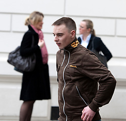 © London News Pictures. 16/03/2012. London, UK. RYAN ACKROYD leaving Westminster Magistrates Court on March 16th, 2012 where he faced charges in connection with alleged computer crime. RYAN ACKROYD is accused of involvement in the elite hacking organisation known as Lulz Security aka LulzSec. LulzSec are accused of multiple cyber attacks on the computer systems of various businesses and governments in the United State. Photo credit : Ben Cawthra/LNP