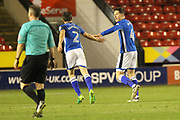 GOAL Jim McNulty celebrates scoring 0-1 during the EFL Sky Bet League 1 match between Walsall and Rochdale at the Banks's Stadium, Walsall, England on 6 March 2018. Picture by Daniel Youngs.
