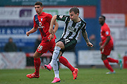 Plymouth Argyle midfielder Gregg?Wylde  during the Sky Bet League 2 match between York City and Plymouth Argyle at Bootham Crescent, York, England on 14 November 2015. Photo by Simon Davies.