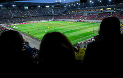 Stadium prior to the football match between WAC Wolfsberg (AUT) and  Borussia Dortmund (GER) in First leg of Third qualifying round of UEFA Europa League 2015/16, on July 30, 2015 in Wörthersee Stadion, Klagenfurt, Austria. Photo by Vid Ponikvar / Sportida