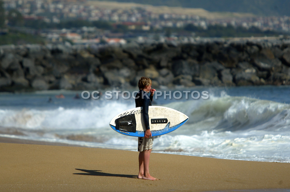 Young Skim Boarder At The Beach