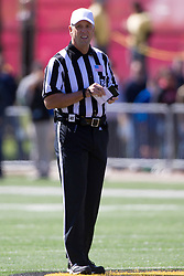 13 September 2014:  Referee: Greg Sujack during an NCAA football game between the Eastern Illinois Panthers and the Illinois State Redbirds at Hancock Stadium in Normal IL