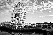 The Big Easy ferris wheel ride at Six Flags in East New Orleans - five years later after Hurricane Katrina.