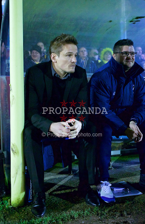 KINGSTON-UPON-THAMES, ENGLAND - Monday, January 5, 2015: AFC Wimbledon's manager Neal Ardley before the FA Cup 3rd Round match against Liverpool at the Kingsmeadow Stadium. (Pic by David Rawcliffe/Propaganda)