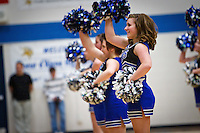 Felicia cheering at a rally for the state champion Coeur d'Alene High School football team Tuesday, Nov. 30, 2010.