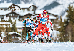 23.02.2019, Langlauf Arena, Seefeld, AUT, FIS Weltmeisterschaften Ski Nordisch, Seefeld 2019, Skiathlon, Herren, 30km, im Bild Alexander Bolshunov (RUS) // Alexander Bolshunov of Russian Federation during the men's 30km Skiathlon competition of the FIS Nordic Ski World Championships 2019. Langlauf Arena in Seefeld, Austria on 2019/02/23. EXPA Pictures © 2019, PhotoCredit: EXPA/ Stefan Adelsberger