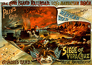 Mexican War, Siege of Vera Cruz. Title: Pain's great war spectacle, Mexican War, Siege of Vera Cruz Other Title: Siege of Veracruz. c1890.