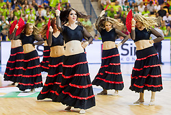 Cheerleaders Ladies perform during basketball match between National teams of Slovenia and Spain in Round 1 at Day 2 of Eurobasket 2013 on September 5, 2013 in Arena Zlatorog, Celje, Slovenia. (Photo by Vid Ponikvar / Sportida.com)