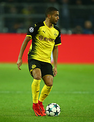 November 21, 2017 - Dortmund, Germany - Jeremy Toljan of Borussia Dortmund. during UEFA Champion  League Group H Borussia Dortmund between Tottenham Hotspur played at Westfalenstadion, Dortmund, Germany 21 Nov 2017  (Credit Image: © Kieran Galvin/NurPhoto via ZUMA Press)