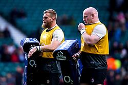 Brad Shields of England and Dan Cole of England - Mandatory by-line: Robbie Stephenson/JMP - 16/03/2019 - RUGBY - Twickenham Stadium - London, England - England v Scotland - Guinness Six Nations