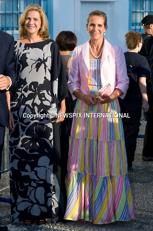 "Princess Elena and Infanta Cristina_.The Wedding of Prince Nikolaos and Tatiana Blatnik attended by many members of European Royalty at St Nikolaos Church on the Island of Spetses_Grecce_24/08/2010.Mandatory Credit Photo: ©DIAS-NEWSPIX INTERNATIONAL..**ALL FEES PAYABLE TO: ""NEWSPIX INTERNATIONAL""**..IMMEDIATE CONFIRMATION OF USAGE REQUIRED:.Newspix International, 31 Chinnery Hill, Bishop's Stortford, ENGLAND CM23 3PS.Tel:+441279 324672  ; Fax: +441279656877.Mobile:  07775681153.e-mail: info@newspixinternational.co.uk"