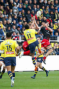 Alivereti Raka to ASM and Liam GILL to LOU during the French championship Top 14 Rugby Union match between ASM Clermont and Lyon OU on November 18, 2017 at Marcel Michelin stadium in Clermont-Ferrand, France - Photo Romain Biard / Isports / ProSportsImages / DPPI