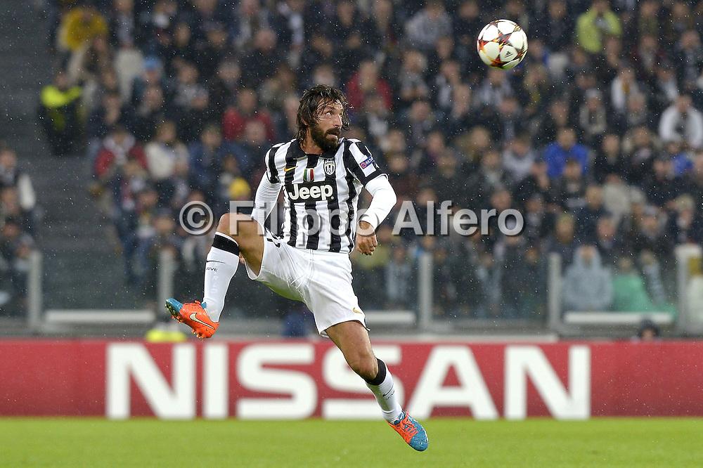 &copy; Filippo Alfero<br /> Juventus-Olympiacos, Champions League 2014/2015<br /> Torino, 04/11/2014<br /> sport calcio<br /> Nella foto: Andrea Pirlo