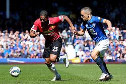 Antonio Valencia of Manchester United attacks - Photo mandatory by-line: Matt McNulty/JMP - Mobile: 07966 386802 - 26/04/2015 - SPORT - Football - Liverpool - Goodison Park - Everton v Manchester United - Barclays Premier League