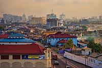 Accra Skyline in the Haze, Jamestown District
