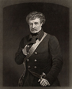 Colin Campbell, Baron Clyde (1792-1863) Scottish soldier; commanded the  Highland Brigade in Crimean War;  commanded British forces during Indian Mutiny 1857-1858; created field-marshal 1862. Engraving c1880.