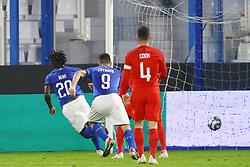 Italy goal MOISE KEAN (ITALY)     <br /> Football friendly match Italy vs England u21<br /> Ferrara Italy November 15, 2018<br /> Photo by Filippo Rubin