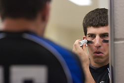 26 May 2007: Duke Blue Devils midfielder Mike Catalino (29) in the locker room before the NCAA semifinals to take on the Cornell Big Red at M&T Bank Stadium in Baltimore, MD.