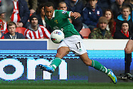 Picture by Paul Chesterton/Focus Images Ltd.  07904 640267.03/03/12.Elliott Bennett of Norwich in action during the Barclays Premier League match at the Britannia Stadium, Stoke-on-Trent.