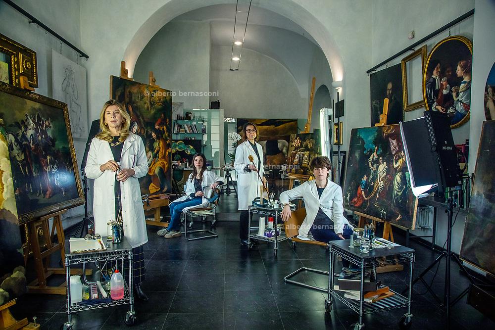 Rome, the coservative studio Merlini Storti,  from left to right, Valeria Merlini, Chiara Scognamiglio, Daniela Storti and Barbara Rossodivita