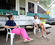 Ivan Hazelwood and Megan Gilbert serve as campground hosts at the Curtis Canyon Campground. The couple happened to come across the site when the National Forest Service was looking to fill the position. Gilbert is a nurse at St. John's Medical Center.
